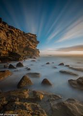 Look, up in the sky... (Mick Fletoridis) Tags: longexposure seascape sunrise rocks surf sydney australia canonlens leefilters sonyimages sonya7s