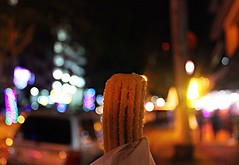 Churro (KalvinSainz) Tags: city vacation food night lights yummy good memories eat snack pastry late panama panamacity churro