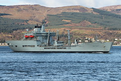 RFA Wave Ruler A390 (corax71) Tags: uk point scotland boat marine ship force exercise britain military united great transport royal fast wave kingdom vessel class maritime transportation gb warrior fleet shipping naval ruler gourock joint tanker nato forces 161 armed inverclyde replenishment cloch rfa auxiliary a390 jw161