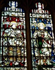 Retford - St Swithun's - Kempe Glass (Glass Angel) Tags: tower king stainedglass ring rex nottinghamshire retford stoswald stcuthbert kempe stswithun stedward