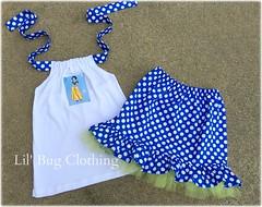 snow white (Lil' Bug Clothing) Tags: blue white snow skirt dot halter