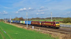 DB Class 90 locomotives_90037+90035_Winwick Jcn_4M25_130416_01 (DS 90008) Tags: nature train wagon landscape cheshire railway wagons logistics dbs rollingstock pantograph daventry intermodal ews class90 90035 wcml ohle mossend electrictraction winwick electricloco 90037 dbschenker electricfreight 4m25