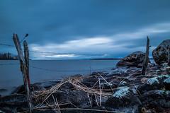 Fences (mathiasboman) Tags: longexposure sunset seascape clouds landscape sweden outdoor nordic sverige vttern waterscape motala stergtland canon6d