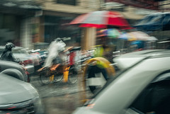 Faster. (Alleat) Tags: street city blue urban beautiful rain indonesia photography mess flickr moody cityscape artsy abc bandung glance flick braga baru feelings pasar