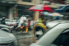 Faster. (Alleat) Tags: street city blue urban beautiful rain indonesia photography mess flickr moody cityscape artsy abc bandung glance flick braga baru feelings pasar