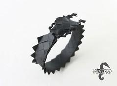 Dragon Bracelet (mitanei) Tags: paperart origami dragon objects bracelet modularorigami paperbracelet mitanei keepfoldingon origamiarmband modularorigamibracelet moduarorigamidragonbracelet origamidragonbracelet drachenarmband origamidrachenarmband paperartbracelet