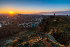 The First Sunset of Spring (Kyoshi Masamune) Tags: uk sunset panorama scotland spring edinburgh cityscape edinburghcastle fife wideangle forth holyrood hdr highdynamicrange arthursseat firthofforth salisburycrags holyroodpark ultrawideangle nd8 citypanorama cokinfilters cokinnd8 kyoshimasamune