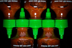feel the heat (le cabri) Tags: red food hot green blackbackground bottle chili sauce minimal editorial rooster minimalism chilisauce foodanddrink minimalist strobe sriracha huyfong srirachasauce strobist cactusv6