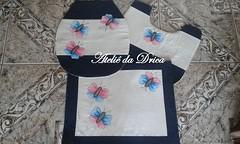 Jogo de Banheiro Borboletas (Ateli da Drica) Tags: patchwork borboletas apliqu aplicaao jogodebanheiro