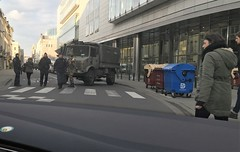 Military presence in the Centre (jlarsen2006) Tags: brussels europe closed european belgium metro military police bruxelles parliament terror bombs attacks armed