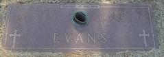 """Iva Clyde """"Bull"""" & Pauline (Rush) Evans Headstone (aesaturner0524) Tags: evans headstone burkburnett"""
