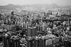 Concrete Forest (Gomen S) Tags: china city urban blackandwhite bw hk architecture landscape hongkong spring nikon asia cityscape afternoon foggy tropical 2016 d5200 1685mm