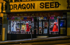 dragon seed (pbo31) Tags: sanfrancisco california city urban black color yellow shop night shopping dark march spring nikon chinatown dragon dress sale seed bayarea 50 claystreet 2016 portsmouthsquare boury pbo31 d810