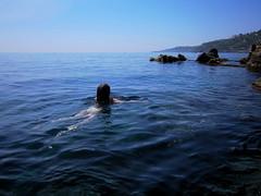 BLU (marcomarino) Tags: lava mare blu cielo azzurro catania orizzonte santatecla aperto scoglio