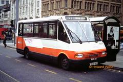 G M Buses 1609 (D609 MDB) (SelmerOrSelnec) Tags: bus manchester minibus mcw metrorider littlegem gmbuses piccadillybusstation d609mdb