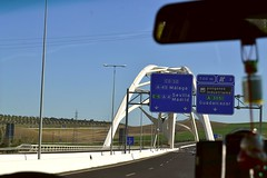 Puente Abbs Ibn Firns de Crdoba (Emilio J. Rodrguez-Posada) Tags: viaje espaa de puente sevilla carretera coche trfico crdoba asfalto mlaga ibn seales seal 2016 sealdetrafico guadalcazar firns abbs puenteabbsibnfirns