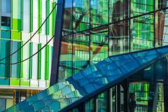 Malm central station in reflection (Maria Eklind) Tags: city reflection train se skne europe view sweden outdoor sverige malm centralstation spegling skneln glasvasen