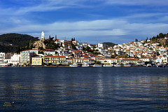 View of Poros island. Greece (theseustroizinian) Tags: trip vacation seascape port canon landscape island gulf ngc hellas greece hdr saronic poros hellenic canoneos700d