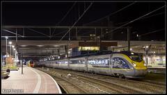 20160430 Eurostar E320 4013/4014, Rotterdam Centraal (16503) (Koen Brouwer) Tags: station speed train high rotterdam gare eurostar zug bahnhof testing international april trein centraal 2016 e320 16503 proefritten