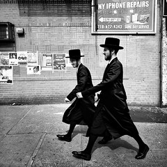 Elijah (ShelSerkin) Tags: street nyc newyorkcity portrait blackandwhite candid streetphotography hasidic iphone mobilephotography hipstamatic