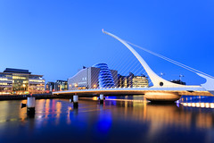 Samuel Beckett Bridge, Dublin (GissaneM) Tags: longexposure bridge night samuelbeckett bluemoment