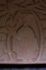Romsley, Worcestershire, St. Kenelm's church, south door, detail (groenling) Tags: uk greatbritain england stone angel dragon christ britain jesus stonecarving carving porch gb worcestershire entry majesty braid worcs tympanum mandorla romsley southdoor stkenelmschurch