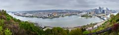 Pittsburgh Skyline (YensmitJott) Tags: clouds cloudy rainy duquesne incline