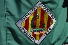 Escut dels Castellers de Cerdanyola en la seva camisa (Cargolins) Tags: castellers cerdanyola escut 2016 castells martinets castellersdecerdanyola
