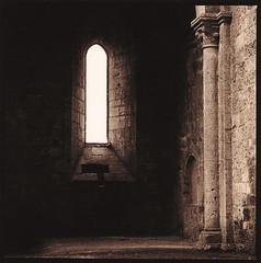 Abbazia di San Galgano (Antonio's darkroom) Tags: abbey sepia trix hasselblad siena carbon ilford se1 toning art300 pyrocathd thiourea catechol