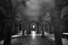 Krypto Krypta (Raphs) Tags: blackandwhite lund church monochrome architecture dark sweden columns round mysterious vault sverige romanesque archs raphs krypta lundcathedral lundsdomkyrka canoneos70d canonefs1018mmf4556isstm