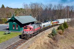 Delaware Lackawanna M630 3000 (rmssch89) Tags: old 3 mountains diesel pennsylvania antique smoke iii class alco pocono shortline