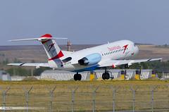 Fokker 70 Austrian LUKK (Vanya Bitca) Tags: airplane airport nikon aircraft aviation moldova kiv fokker lukk austianarrows