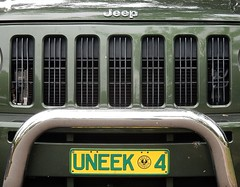 Uneek Grill (mikecogh) Tags: jeep unique 4 humour grill spelling radiator numberplate glenside