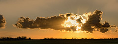 Cloud (Jorden Esser) Tags: sunset sky panorama orange clouds sundown windmills sunrays polder beams windturbine nieuwewaterweg hss workplatform offshoreplatform nederlandvandaag longhorizon offshorecranes silderssunday
