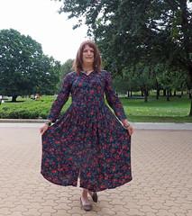 Vintage Laura Ashley (justplainrachel) Tags: selfportrait floral vintage tv rachel dress cd skirt retro transvestite frock timer crossdresser selfie lauraashley justplainrachel
