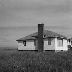 House, Sauvie Island, Oregon (austin granger) Tags: chimney film home field oregon rural square farm crop sauvieisland gf670 austingranger