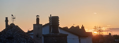 Sunrise over chimneys (Peter-Durrant) Tags: roof sky sun sunrise sony aerial roofs chimneys c1 captureone rx100m4 rx100iv