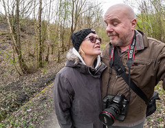 Together we two and the Canon 5D iii (CWhatPhotos) Tags: pictures county uk portrait england woman fish man male eye self pose that four photography couple day foto durham with image artistic cloudy pics north picture pic olympus images east have photographs together photograph fotos co which contain thirds selfie fishey samyang sacriston selfee cwhatphotos epl5