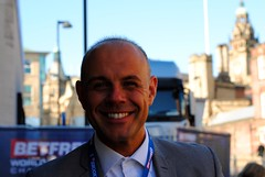 Jason Mohammad from the BBC (zawtowers) Tags: world show door morning jason outside championship theatre stage sheffield first bbc round tuesday april fans welsh players mohammad snooker entering 19th bbc2 presenter crucible 2016 10am betfred thehomeofsnooker