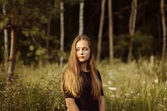 (Moon-ika) Tags: sunset portrait beauty meadow photograpy