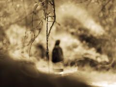 Wanderer (i-r-paulus) Tags: monochrome weird alone monotone creepy odd figure mysterious grainy loner wanderer