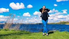 Kim Lobbezoo 16 (M van Oosterhout) Tags: portrait people woman sun lake holland cute netherlands girl beautiful face fashion female clouds model pretty photoshoot modeling stunning editorial