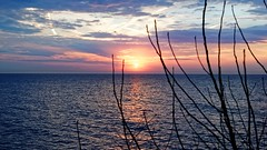 Erie Sunset (hjharland5) Tags: blue sunset ohio sky sun lake water lakeerie cleveland