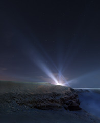 'The Discovery' (Futurilla) Tags: sf light mars crater creativecommons scifi mysterious nightsky bookcover