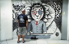 Graffiti & u (denise yeap) Tags: analog graffiti lomography arts human malaysia photowalk analogue 135 compactcamera pointnshoot nikon28ti