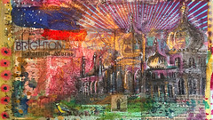 Poetical Works (Jason Lupi) Tags: art collage painting paper paint pages exhibition cutpaste 2016 jasonlupi