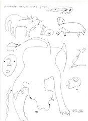 """Assorted Things With Eyes"" - blind gesture drawings by eric Hews  2016 (eric Hews) Tags: copyright illustration fun funny eric comic drawing humor cartoon emo funnies philosophy strip comicstrip haha toon behavior society psychology 2016 hews spbn erichews ennuizle acrossthepond smallplanetbenice 2016erichews"