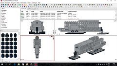 MLCad LC-130 instructions in progress (Mad physicist) Tags: lego instructions hercules cad