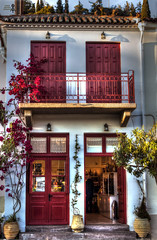 Traditional building. Poros island (theseustroizinian) Tags: building art beauty architecture canon greek flickr ngc hellas greece hellenic canoneos700d