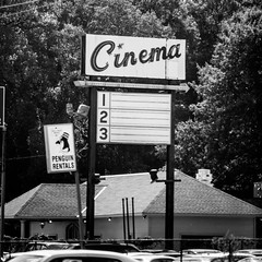 We Got These Lies for Free (Thomas Hawk) Tags: bw usa cinema america louisiana theater neon unitedstates unitedstatesofamerica caddo shreveport caddoparish penguinrentals